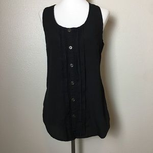 Lush black lace racerback button tank